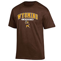 Champion® Brown Wyoming Sports Tee with Pistol Pete