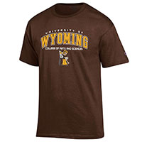 Pistol Pete Wyoming College Tees