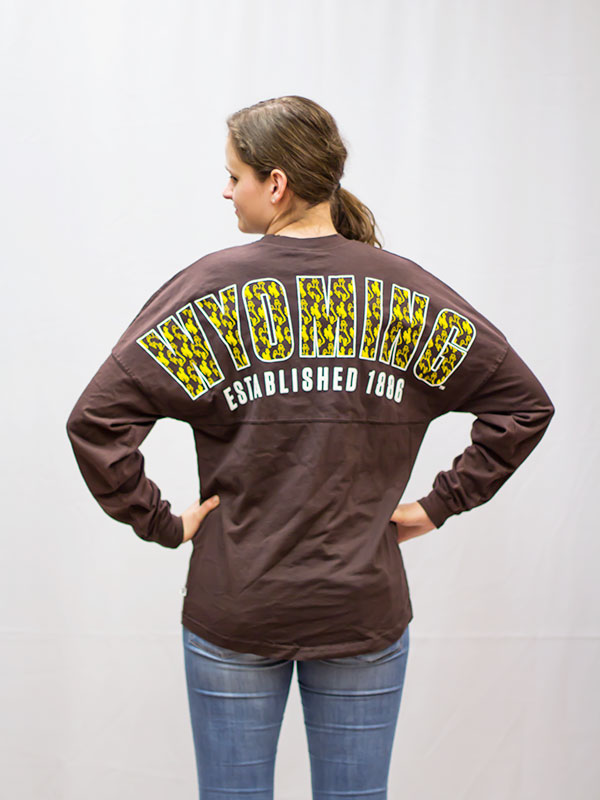 Ladies Wyoming Bucking Horse  Jade Jersey