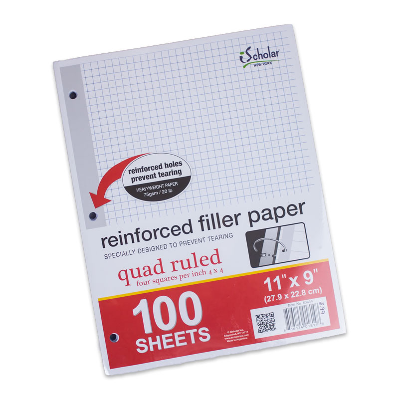 Filler Paper Quad Ruled