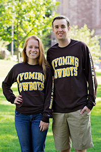 Wyoming Cowboys Brown Long Sleeve