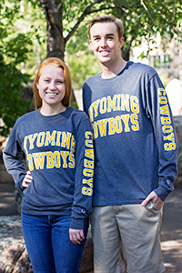 Granite Wyoming Cowboys Long Sleeve Tee