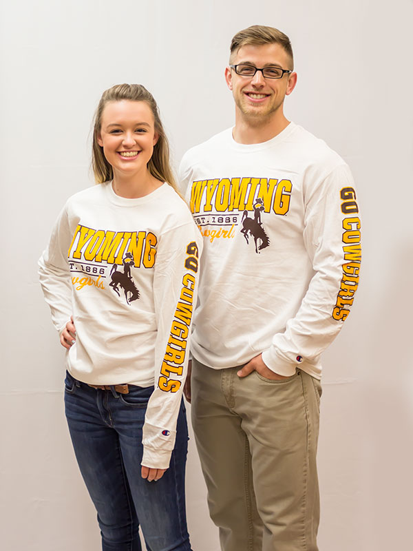 Wyoming Est. 1886 Cowgirls Long Sleeve Tee (SKU 137315401259)