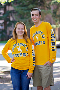 Champion® University Of Wyoming Long Sleeve Tee