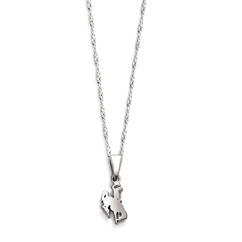 Bucking Horse Solid Drop Charm Necklace