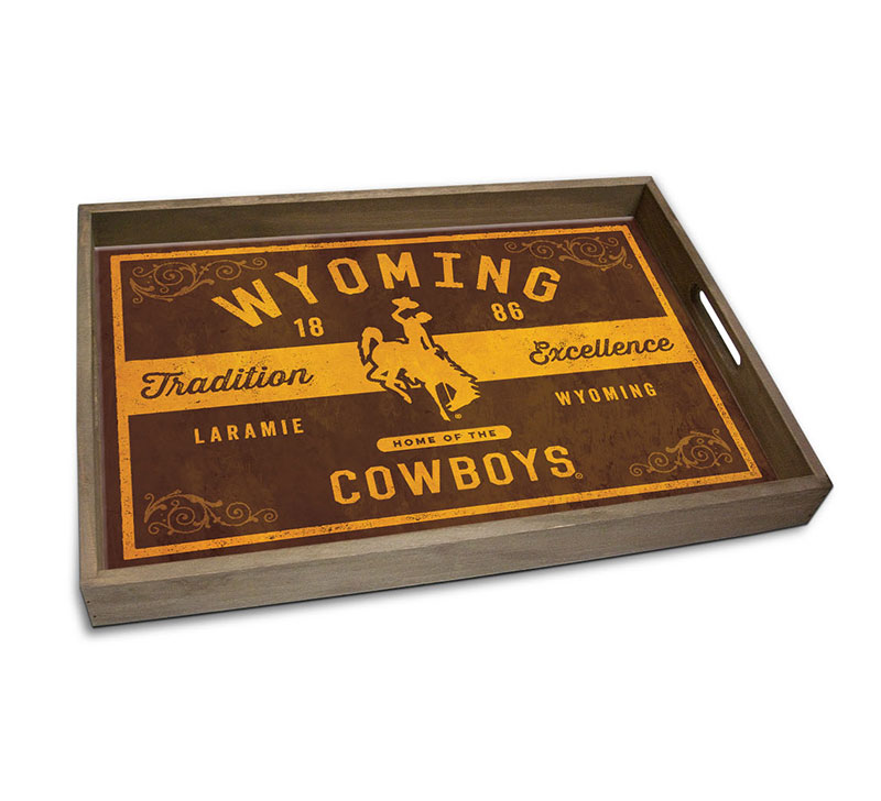 Wood And Glass Wyoming Serving Tray