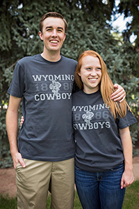 Black Wyoming Cowboys Pistol Pete Soft Tee