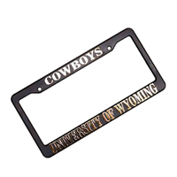 University of Wyoming Plastic License Plate Frame