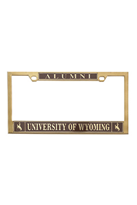Brass Alumni License Plate Frame