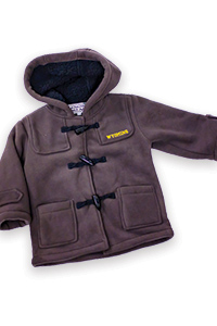 Girls Fleece Peacoat Jacket