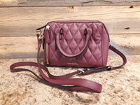 Vera Bradley Quilted Mini Marlo Crossbody In Claret