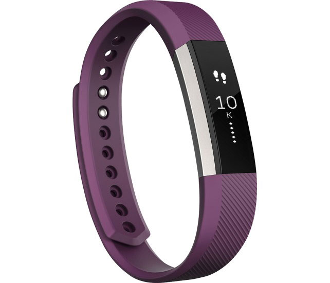 Fitbit Alta Wireless Wristband In Plum - Large