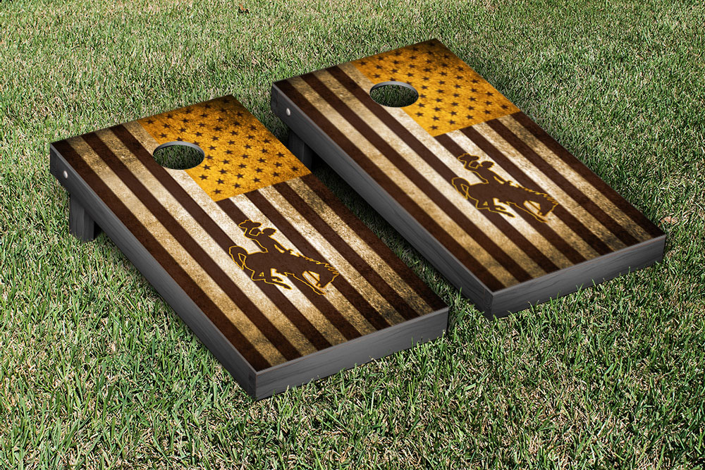 Vintage Bucking Horse Americana Corn Hole Game Set
