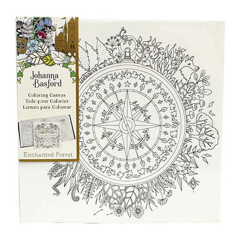 Joanna Basford Enchanted Forest Compass Canvas