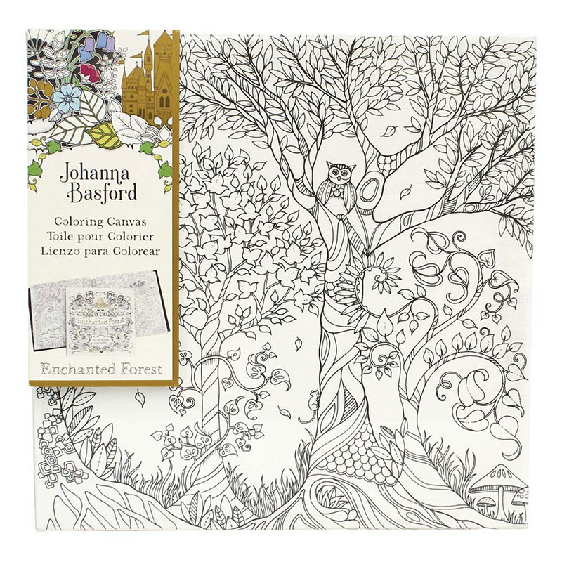 Joanna Basford Enchanted Forest Owl In Tree Canvas