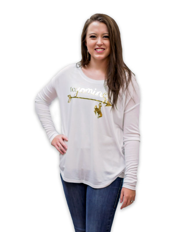 Women's Wyoming Arrow Bucking Horse Long Sleeve