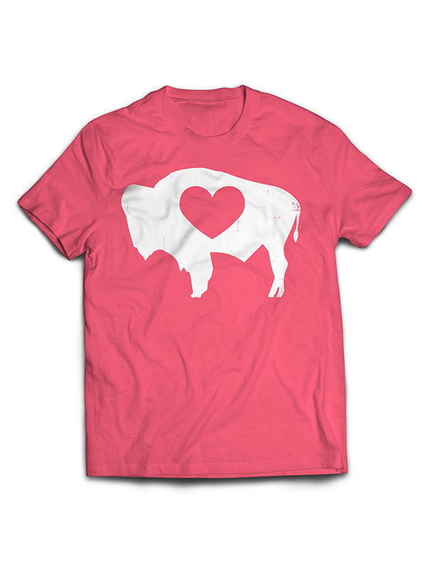 Wyoming Love Ladies Buffalo Tee
