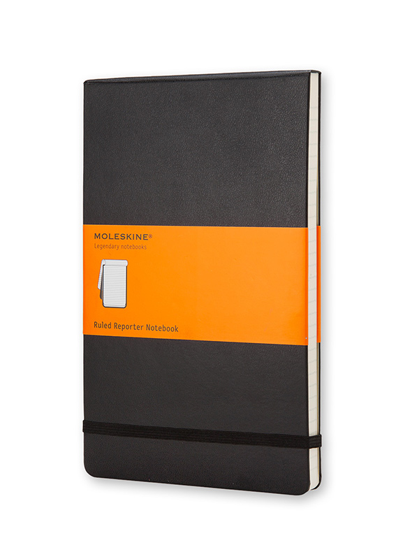 Moleskine® Hard Cover Ruled Reporter Notebook (SKU 138045031332)