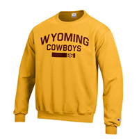 1C. Champion® Wyoming Cowboys Crew