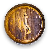 Timeless Etchings® Barrel Bucking Horse Clock
