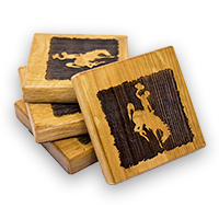 Timeless Etchings® Barrel Bucking Horse Coasters Set