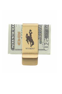 Contemporary Metal Wyoming Money Clip