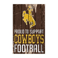 Cowboys Football Vertical Fence Sign