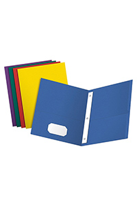 Oxford® Twin Pocket Folder With Fasteners