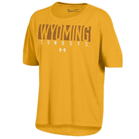 Under Armour® Ladies Charged Cotton Wyoming Cowboys Mesh Back Tee