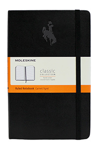 Moleskine® Hard Cover Ruled Notebook with Bucking Horse
