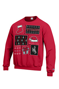 Champion® Ugly Christmas Red Crew