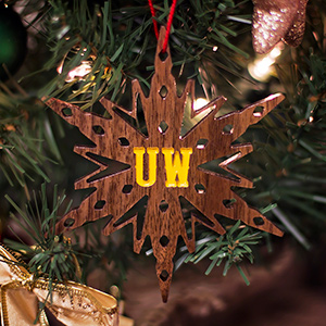 Wood Ornament - Small Snowflake
