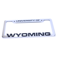Chrome Cut-Out University of Wyoming License Plate Frame