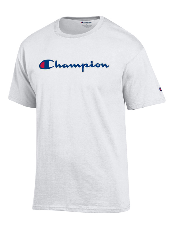 Champion® Branded Script Short Sleeve Tee (SKU 138954331424)