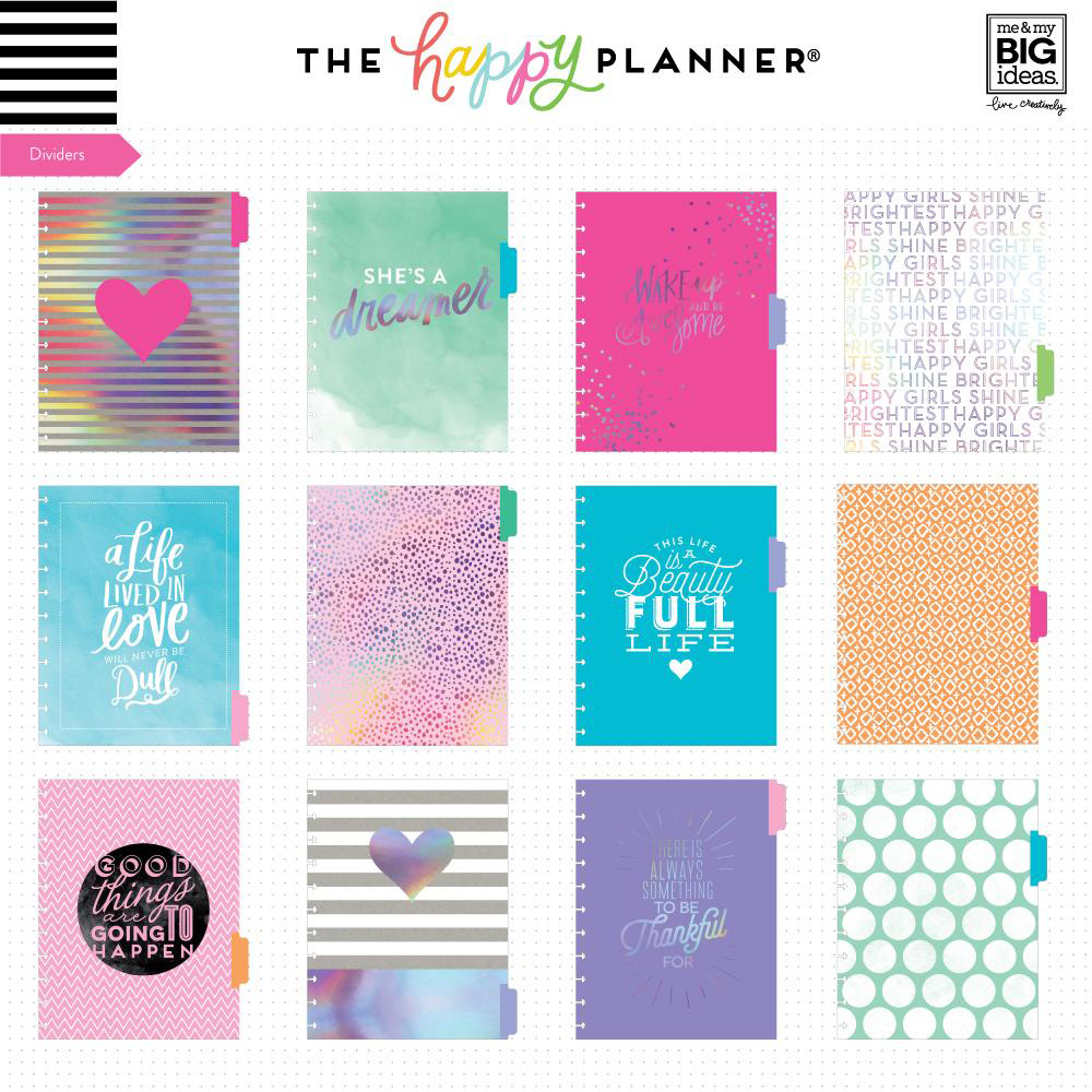 Rainbow Foil 12-Month Undated Big Planner Box Kit