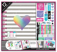 Rainbow Foil 12-Month Undated Big Planner Box Kit
