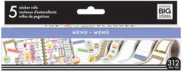 Food Menu Planner Sticker Roll (SKU 138978331426)