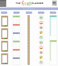 FOOD MENU PLANNER STICKER ROLL