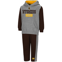 Colosseum® Toddler Wyoming Cowboys Hood And Sweatpant Set