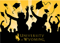 Graduation University of Wyoming Celebration Silhouette Card