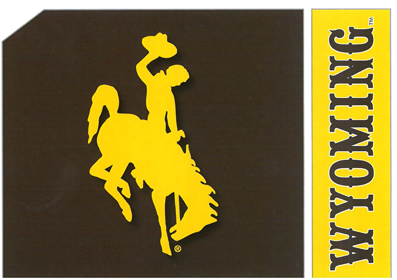 Blank Wyoming Bucking Horse Card (SKU 139010591428)