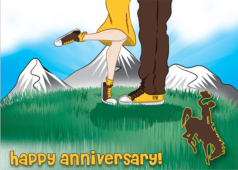 Happy Anniversary Mountain Kiss Card (SKU 139010731428)