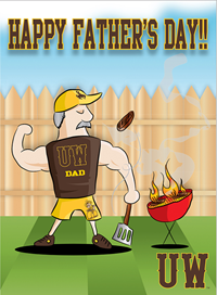 Happy Father's Day Tailgate Card