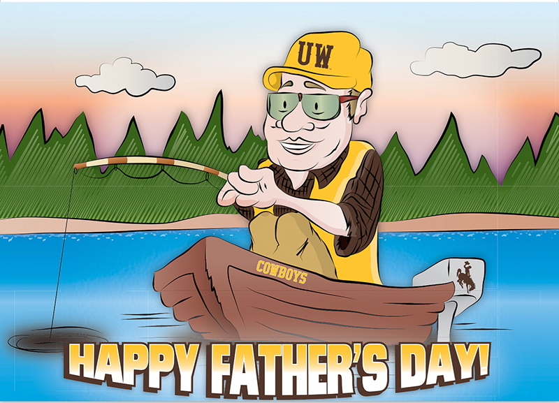 Happy Father's Day Fishing Card (SKU 139011341428)