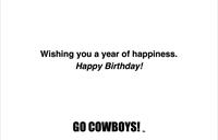 Happy Birthday University of Wyoming Card