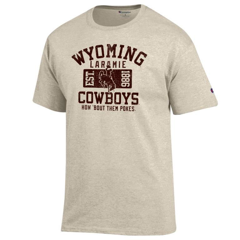 Champion® Wyoming Cowboys Oatmeal Tee (SKU 139029641267)