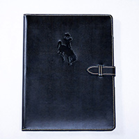 Padfolio - Contrast Stitch with Closure with Bucking Horse