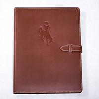 Contranst Stitch with Closure Bucking Horse Padfolio