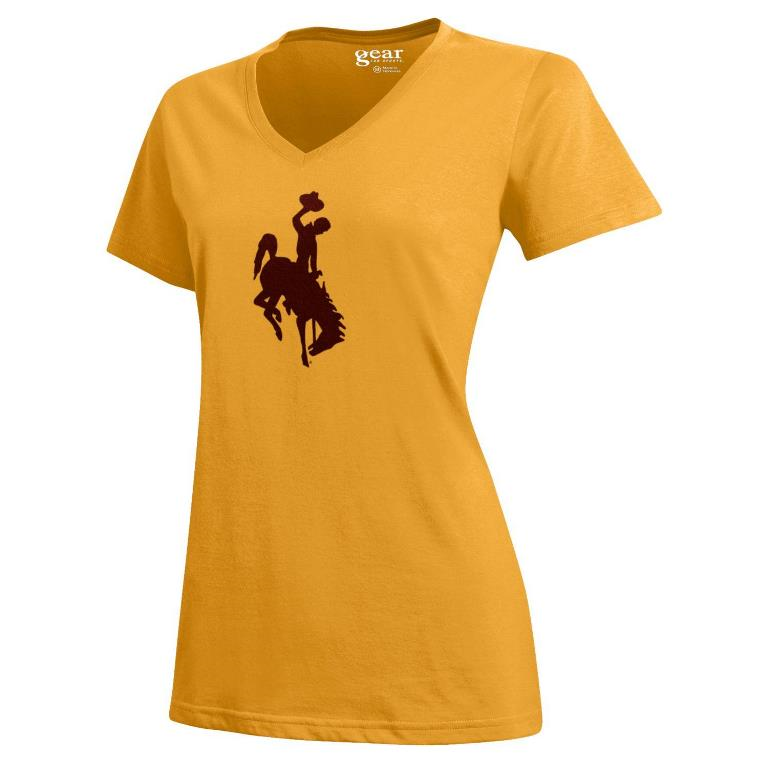 Gear for Sports® Ladies Bucking Horse Mia V Tee (SKU 139090551267)