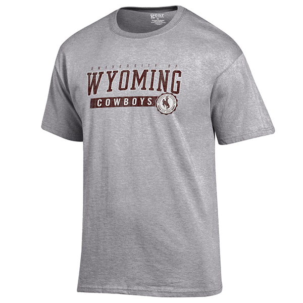 Gear For Sports® University of Wyoming Cowboys Faux Seal Soft Tee (SKU 139092531267)